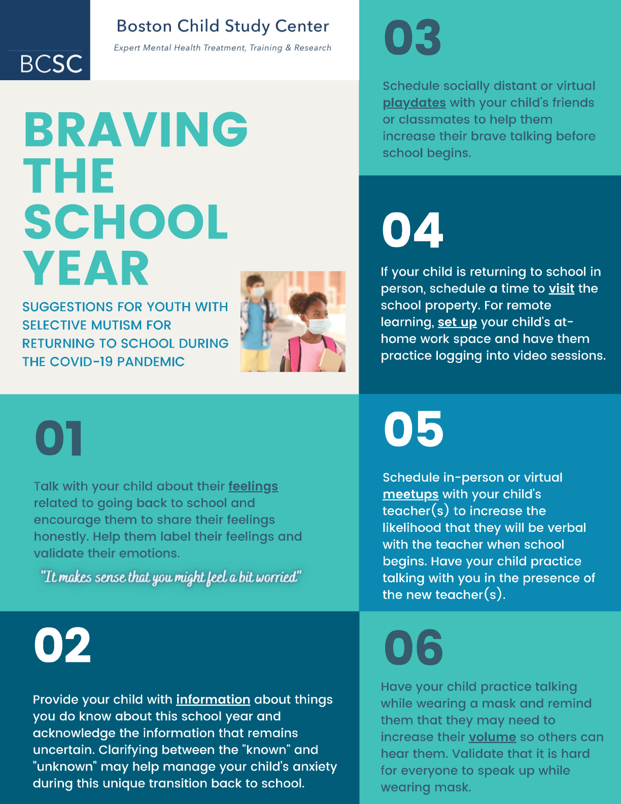 Returning to School During The COVID-19 Pandemic: Tips for Youth with Selective Mutism